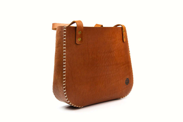 The Bucket Handbag ~ Brown Leather