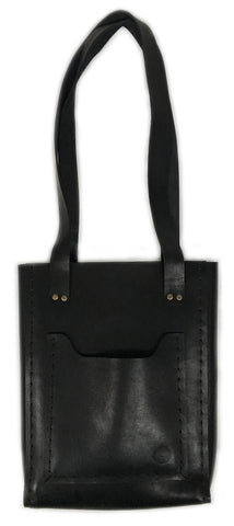 The Bucket Tote ~ Black Leather