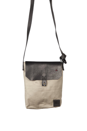 The Freedom Crossbody ~ Grey w/Black Leather