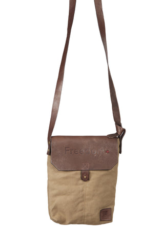 The Freedom Crossbody ~ Tan w/Brown Leather