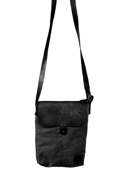 The Freedom Crossbody ~ Black w/Black Leather
