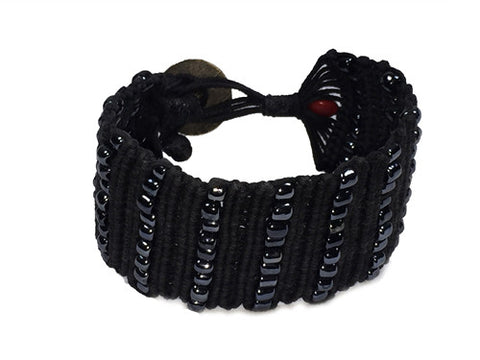Chavy - Black w/ Gun Metal Beads