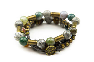 Chng - Multi Color w/ natural stone & burnished metal accents