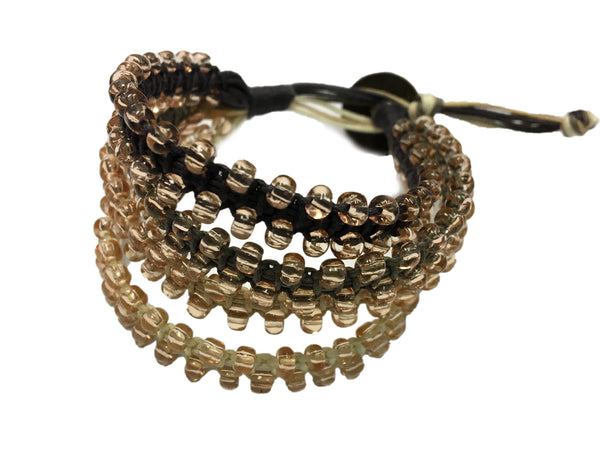Chann - Brown w/ brown glass beads