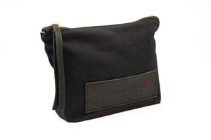 The Freedom Cosmetic Bag ~ Black w/Black Leather