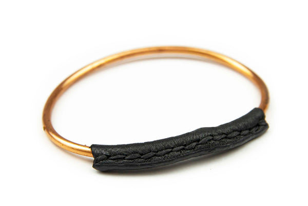 Copper + Leather Bangle