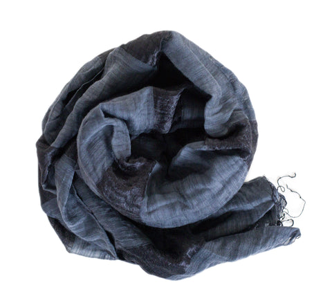 Fringe Scarf - Black Smoke