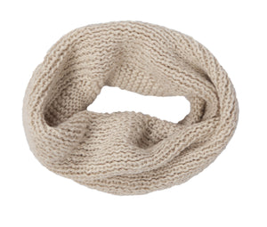 Infinity Cowl Neck Scarf - Oatmeal