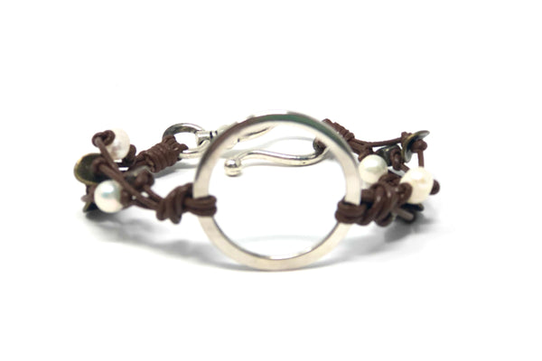 Arun Circle Bracelet - Brown