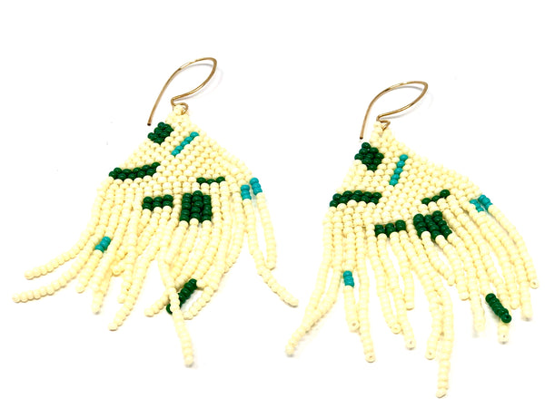 Artist Fringe Earrings - Creme