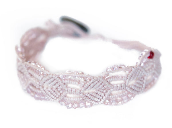 Kristeal ~ Soft Pink w/ Clear Beads