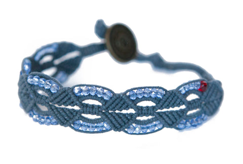 Kristeal ~ Navy w/ Clear Beads