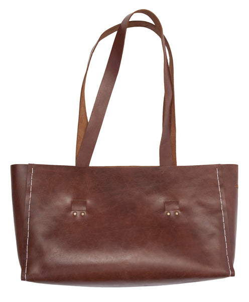 Laptop Tote ~ Brown Leather