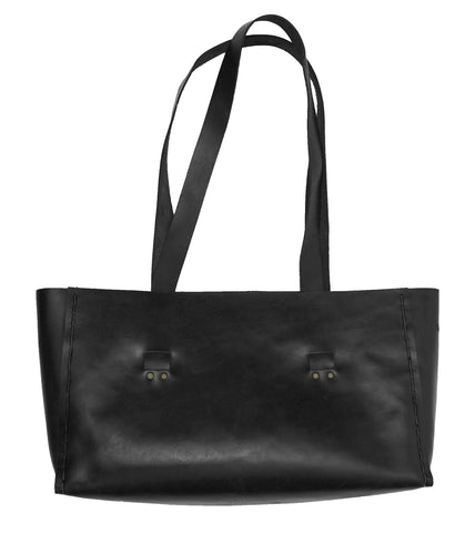 Laptop Tote ~ Black Leather