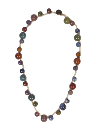 Mony - Multi Colored Ceramic Beads Necklace