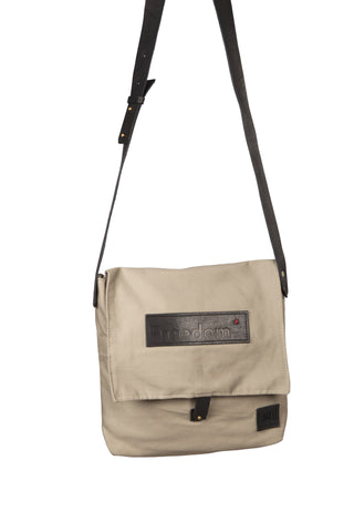 The Freedom Messenger ~ Taupe/Grey w/Black Leather