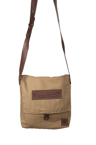 The Freedom Messenger ~ Tan w/Brown Leather