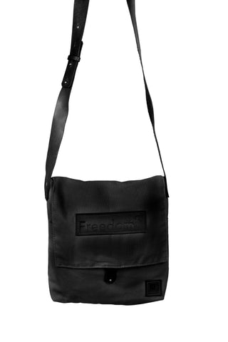 The Freedom Messenger ~ Black w/Black Leather
