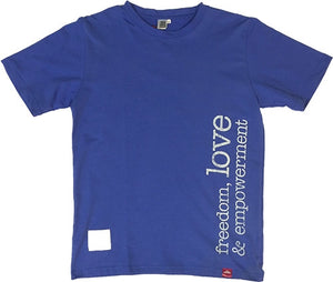 T-Shirt Freedom Love - Mens Blue