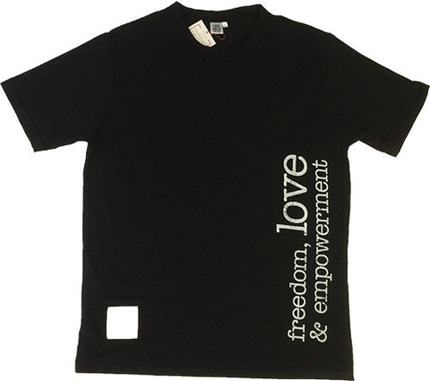 T-Shirt - Freedom Love - Mens Black