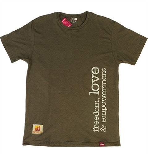 T-Shirt Freedom Love - Mens Brown