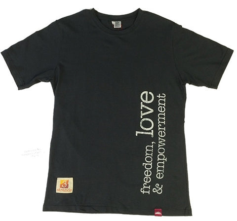 T-Shirt Freedom Love - Mens Dark Grey