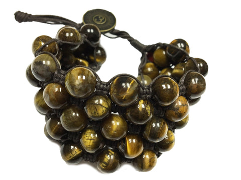 Phaem ~ Brown w/ Tigers Eye Natural Stone