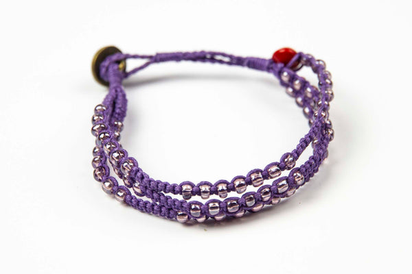 Phlu ~ Purple w/ Purple Beads