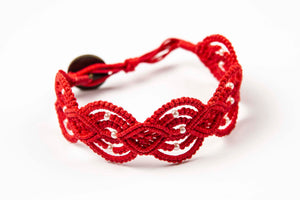 Pkah ~ Red w/ Beads