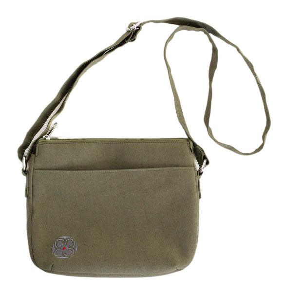 Linen Multi Pocket Bag ~ Olive