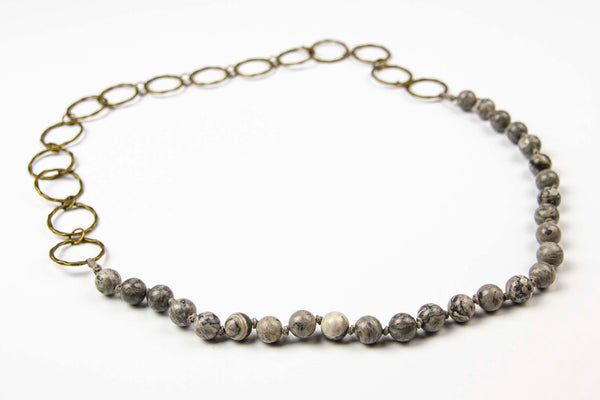 Riep Necklace - Steel Grey