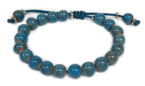 Socharet - Royal Blue ceramic beads on slide closure bracelet