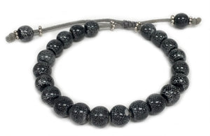 Socharet - Grey ceramic beads on slide closure bracelet
