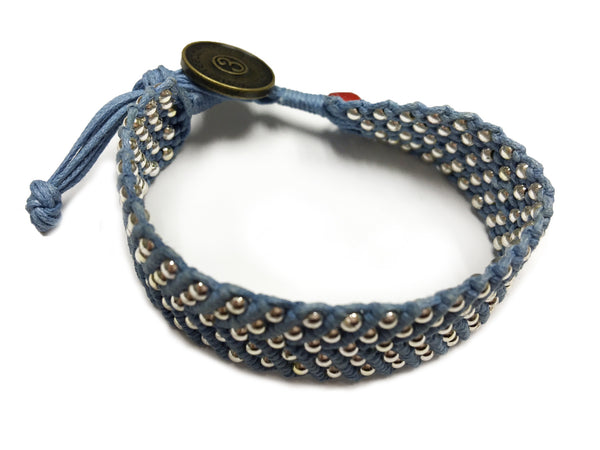 Tnphlon ~ Denim w/ Silver Beads