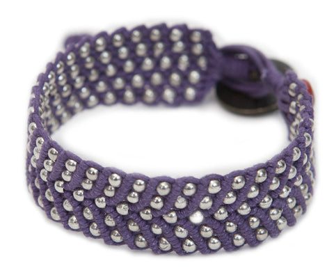 Tnphlon ~ Purple w/ Silver Beads