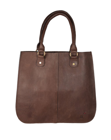 The Leather Tote ~ Brown Leather