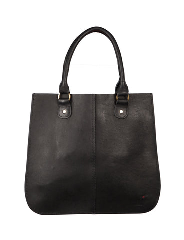 The Leather Tote ~ Black Leather