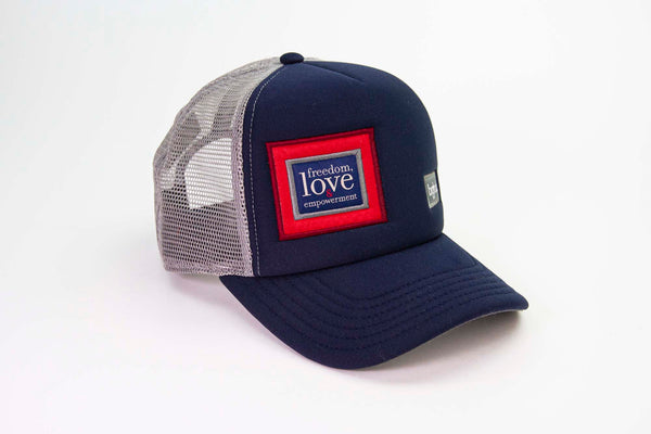 The 3 Strands Classic Trucker Hat - Dark Blue