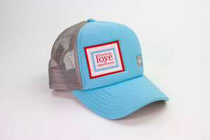 The 3 Strands Classic Trucker Hat - Light Blue