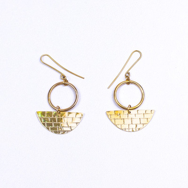 Ukata Earrings - Goldtone
