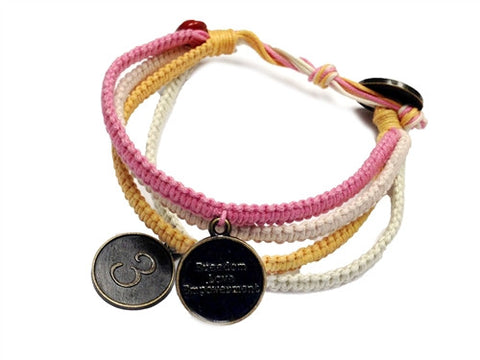 Vannak - Shades of Pink, Orange & Creme w/ Anti Brass Charms