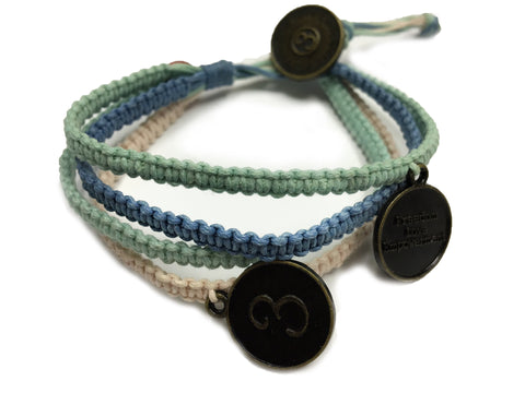 Vannak - Denim, Green and Pink w/Anti Brass Charms