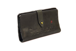 The Freedom Leather Wallet ~ Black Leather