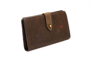 The Freedom Leather Wallet ~ Brown Leather