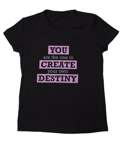 "T-shirt ""Destiny"" - Womens Black"