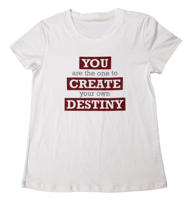 "T-shirt ""Destiny"" - Womens White"