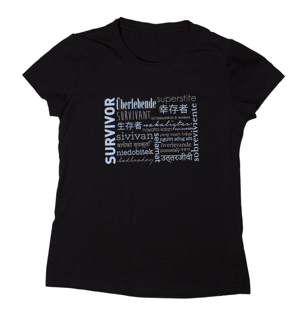 "T-shirt ""Survivor"" - Womens Black"