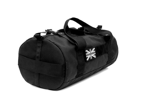 Duffel side on with patch