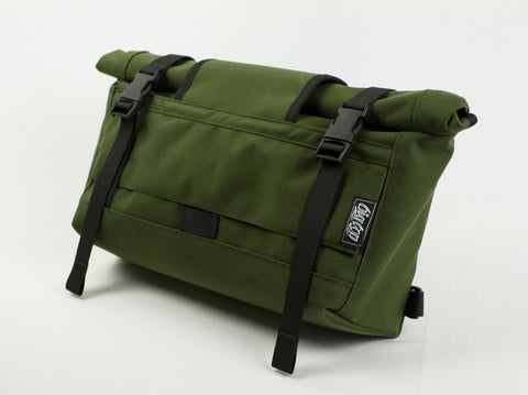BIGxTOP Mini Messenger Front View in Olive