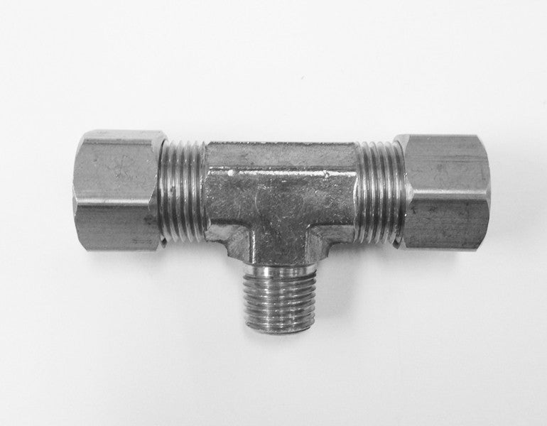 Tube to Thread Branch Tee Fittings (Compression Stainless Steel)